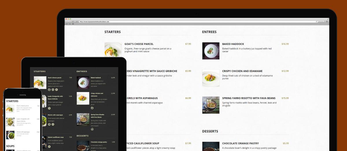 food and drink menu free wordpress restaurant menu plugin