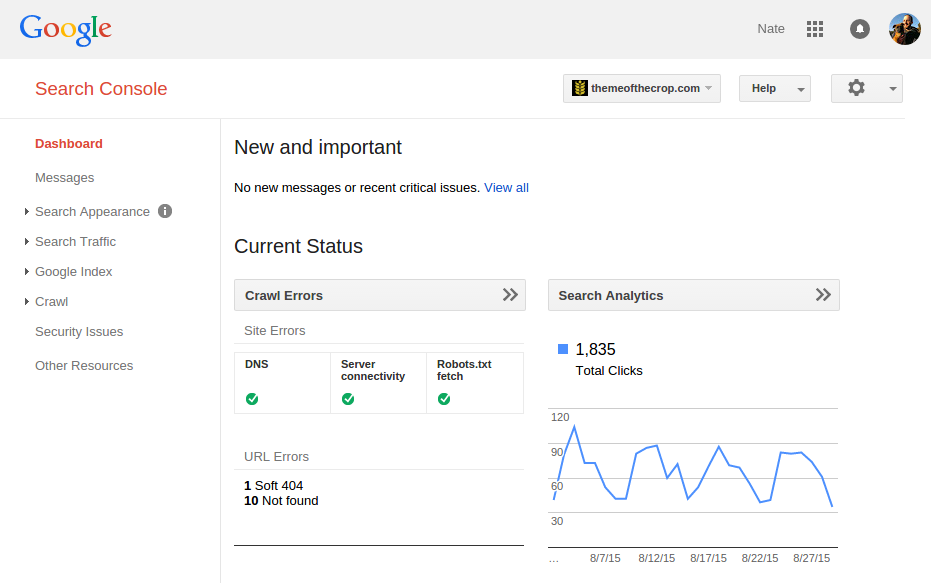 tending your seo garden with google s search console theme of the crop