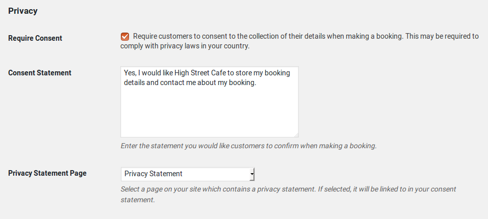 Restaurant Reservations updated to help you comply with GDPR